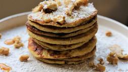 Verwenontbijtje: pannenkoeken met  kokos & banaan