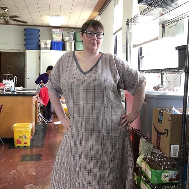 Final dress 3 in a wool silk blend finis