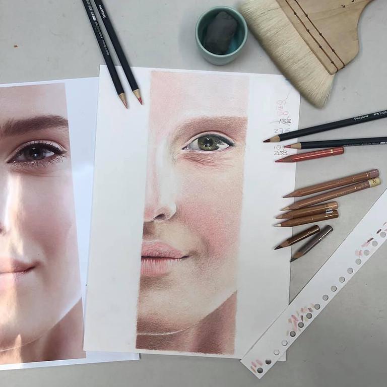 Workshop Kleurpotlood Huid-studie