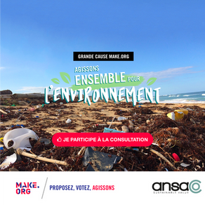 "Ansa participates in the""Agissons Ensemble Pour l'Environnement !"" cause of Make.org"