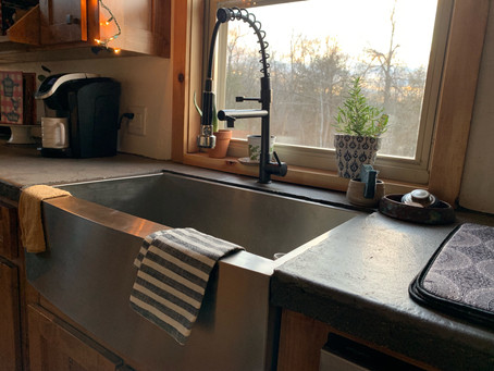 Farmhouse Sinks and Window Herbs