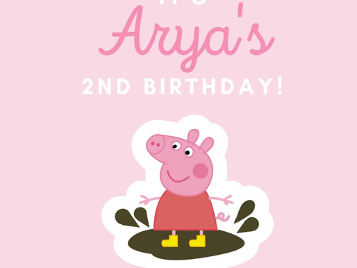 Arya's (Virtual) Birthday Celebration