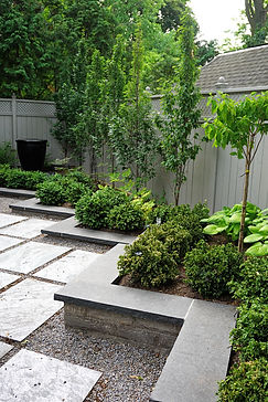 Garden patio & plantings
