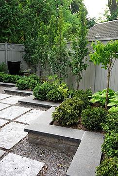 Garden patio & plantings