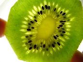 Vision de l'interieur d'un kiwi