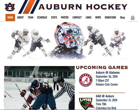 AU Hockey Website Redesign