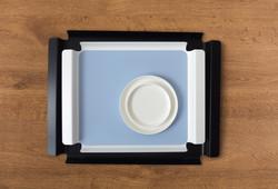 Livø, white & black trays