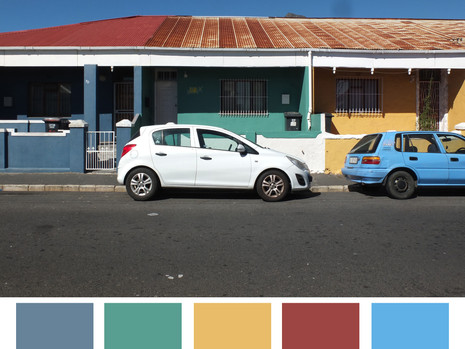 Color scheme of Cape Town,South Africa