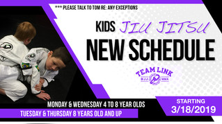New kids classes and new kids class schedule