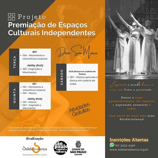 Premiação de Espaços Culturais Independe