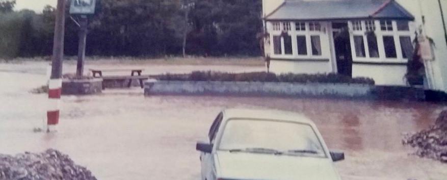 The Ship Inn Llantwit Fardre flooding 1985