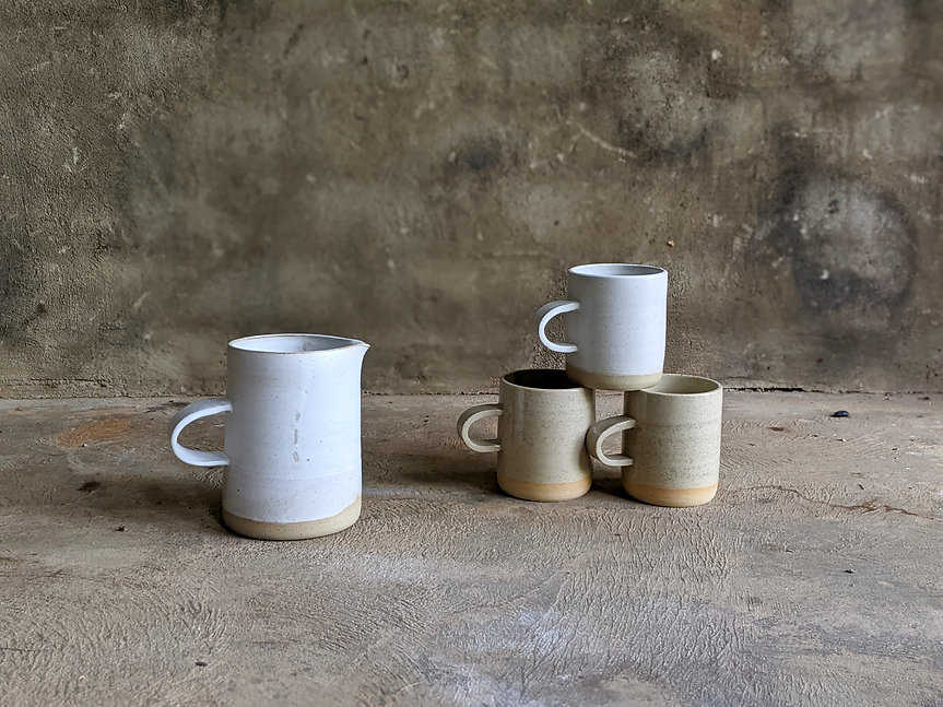 ceramic jug cups mugs