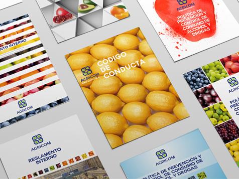 Diseño de portadas para AGRICOM