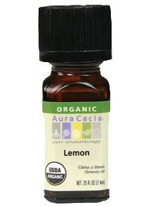 LEMON ORGANIC ESSENTIAL OIL .25 OZ