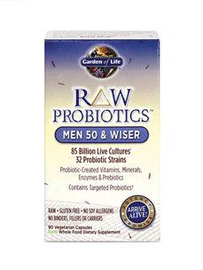 RAW PROBIOTICS MEN 50 & WISER 90 VCAPS