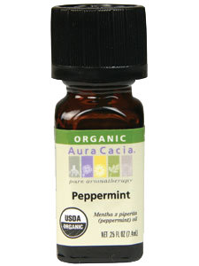 PEPPERMINT ORGANIC ESSENTIAL OIL .25 OZ
