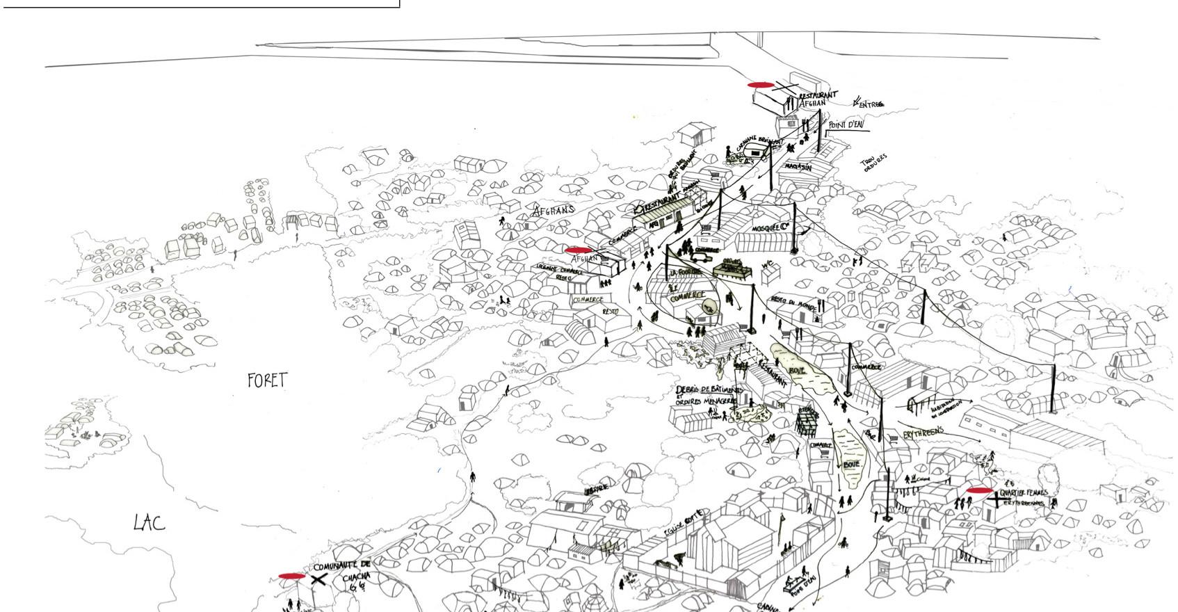 La leçon de Calais, architectures de la jungle