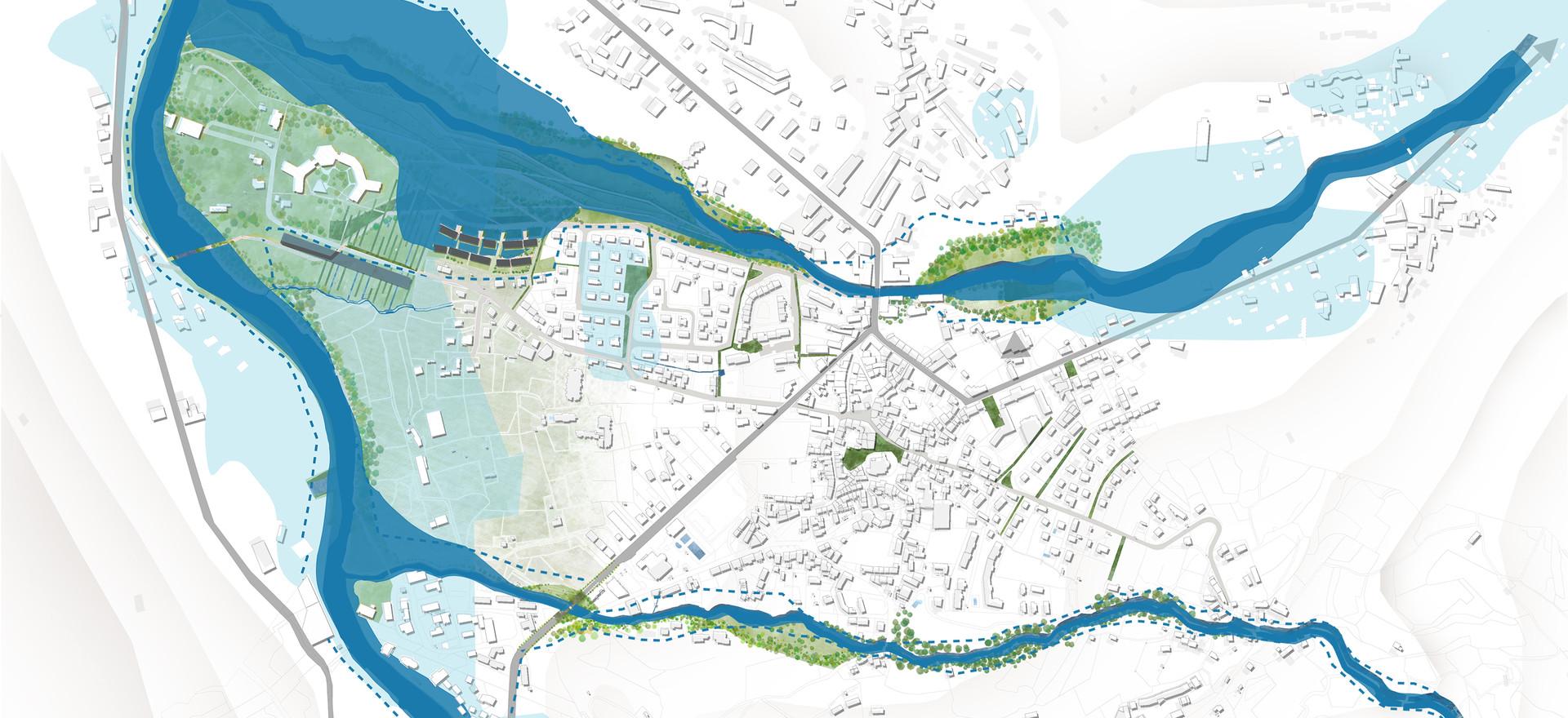 Simulation en cas d'inondation