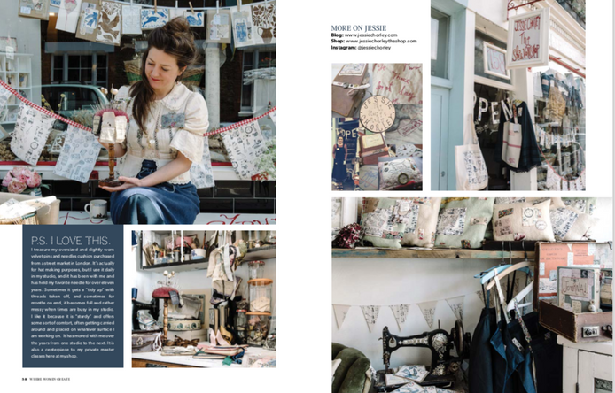 Jessie Chorely feature on Where Women Create