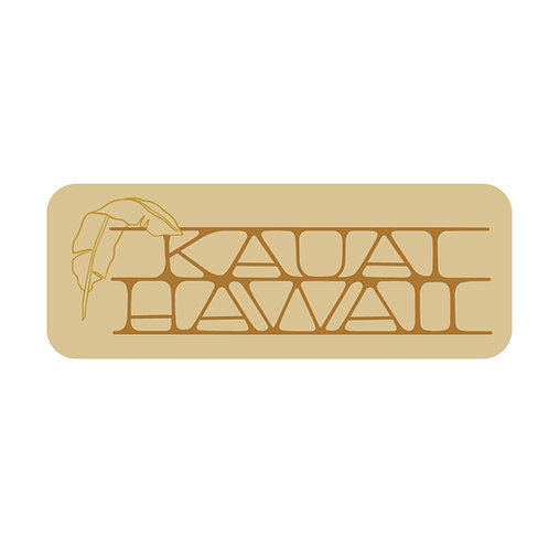 Banana Leaf Kauai Hawaii Sticker