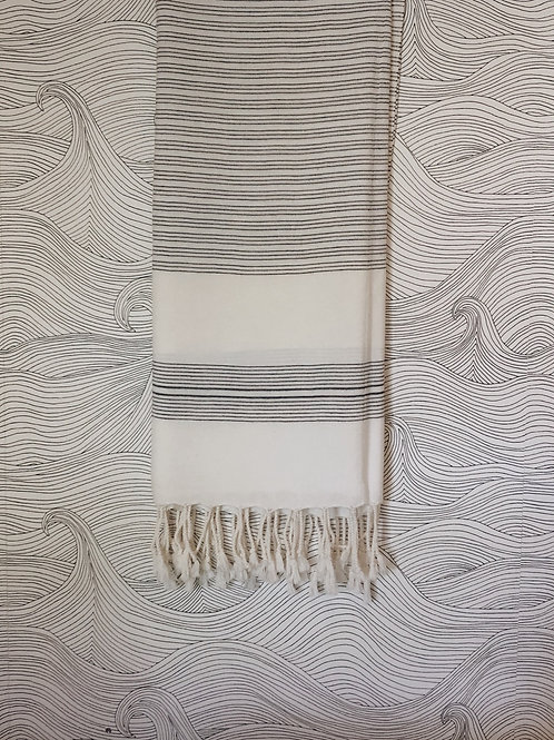 Thin striped turkish towel/blanket