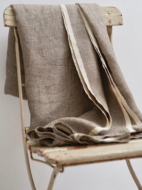 Raw Linen Waffle Blanket