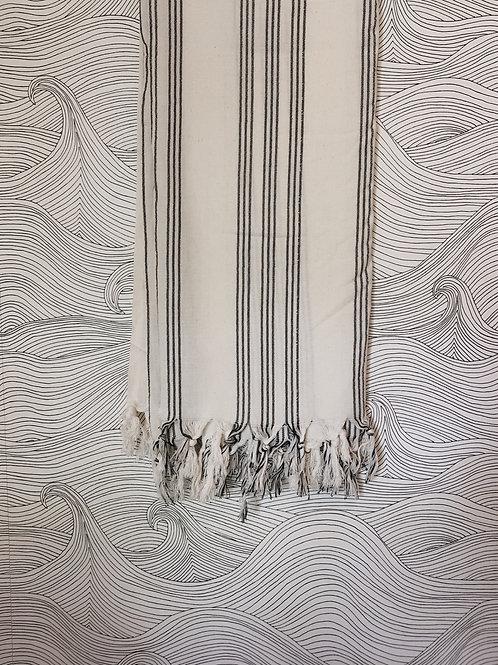 Vertical stripe Turkish towel