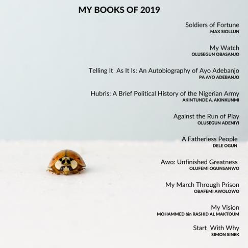 My Books of 2019