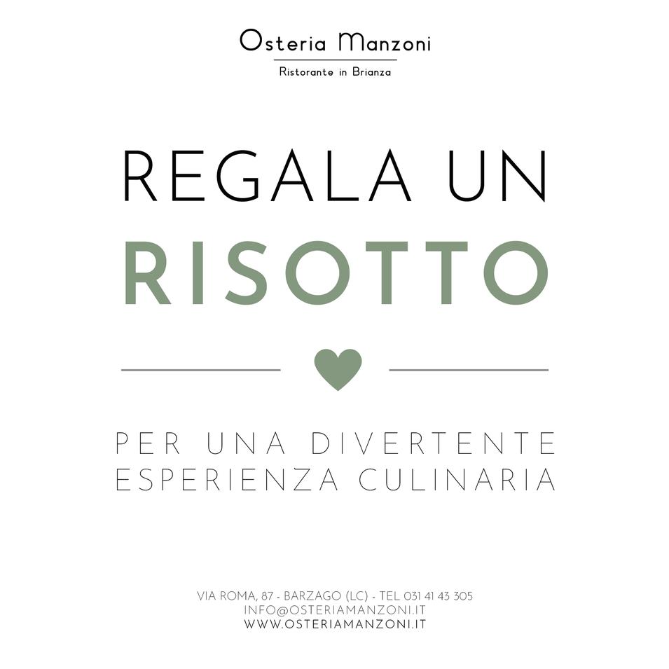 Regala box risotto Osteria Manzoni