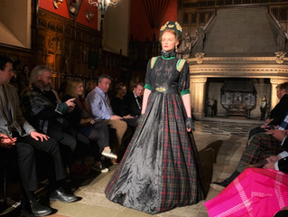 """Women of the Crown"" catwalk in  Edinburgh Castle"