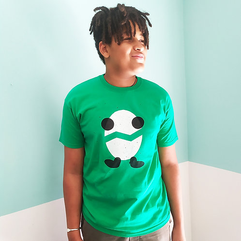 T-Shirt grün / Billy weiß