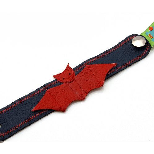 Armband dunkelblau / Fledermaus