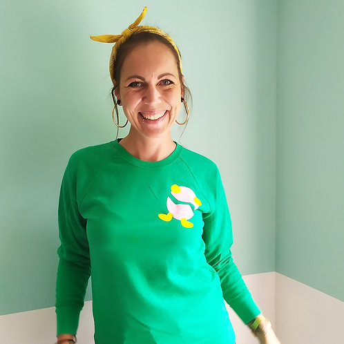 Sweatshirt grün / Billy rosa