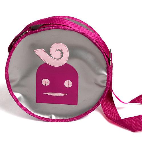 Runde Tasche silber / Lilly pink
