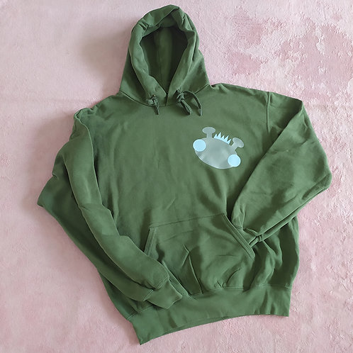 Hoody oliv / Willy silber