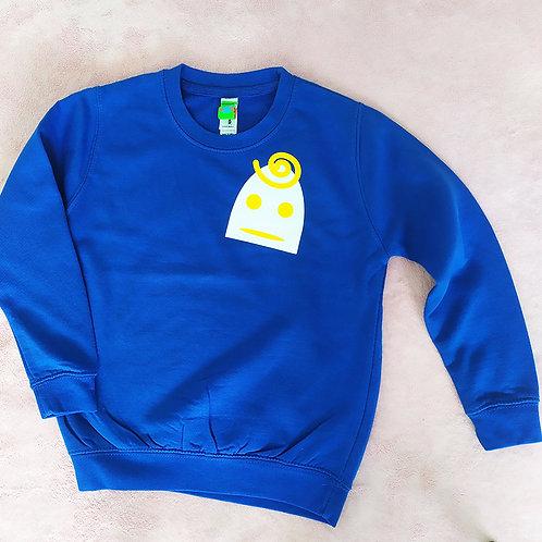 Sweatshirt blau / Lilly weiß