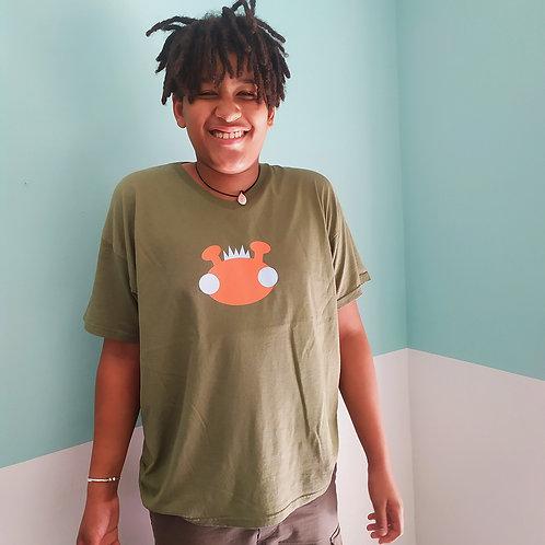 T-Shirt oliv / Willy orange