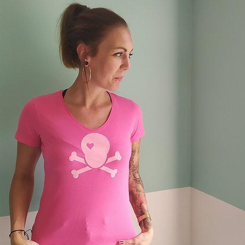 T-Shirt pink / Skull rosa
