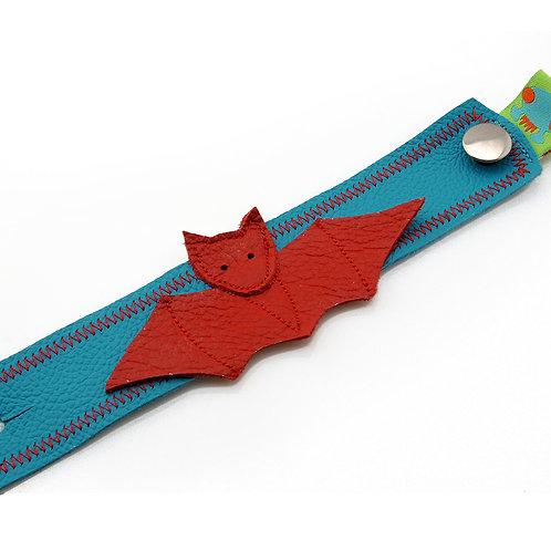 Armband türkis / Fledermaus
