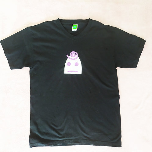 T-Shirt schwarz / Lilly weiß mit Glitzer