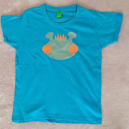 T-Shirt türkis / Willy silber