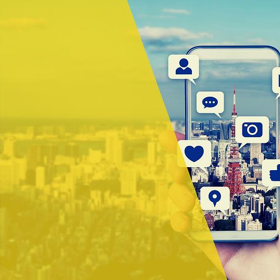 Black and Yellow Modern Digital Marketin