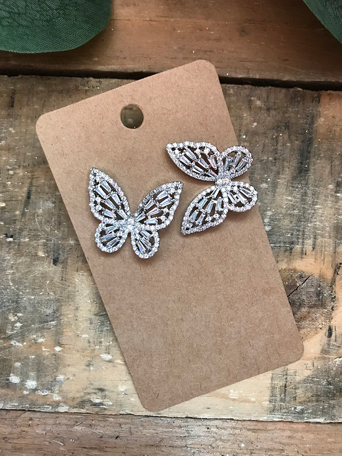 Sparkling Butterfly Large Studs