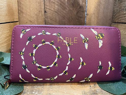 Large Purple Bee Purse