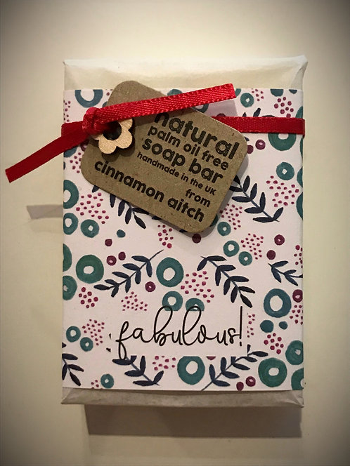 FABULOUS! Peppermint & poppy seed hand made soap bar