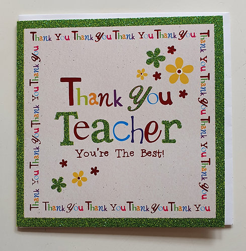 Thank You Teacher, You're The Best!