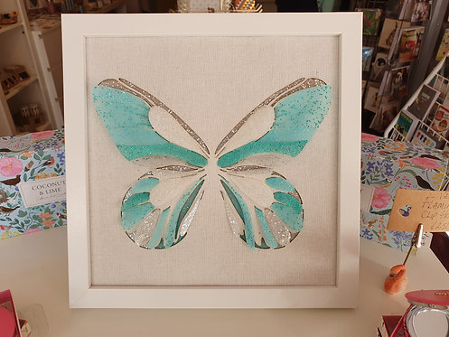 Butterfly Collage Wall Plaque