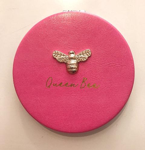 The BEE KEEPER 'Queen Bee' Pink compact mirror