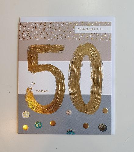 50 - Congrats! Brush Strokes