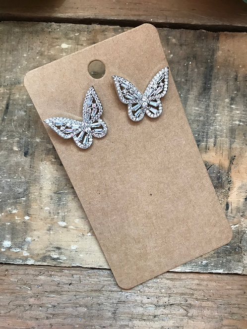 Sparkling Butterfly Small Studs